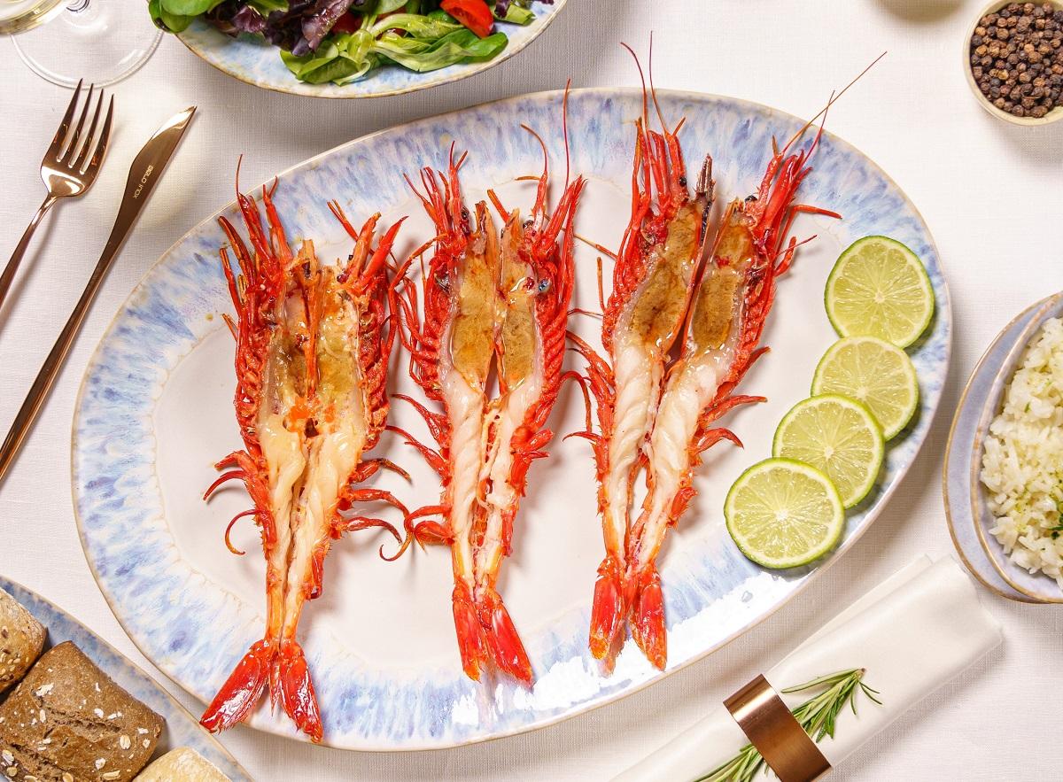 creveti carabineiro dancing lobster